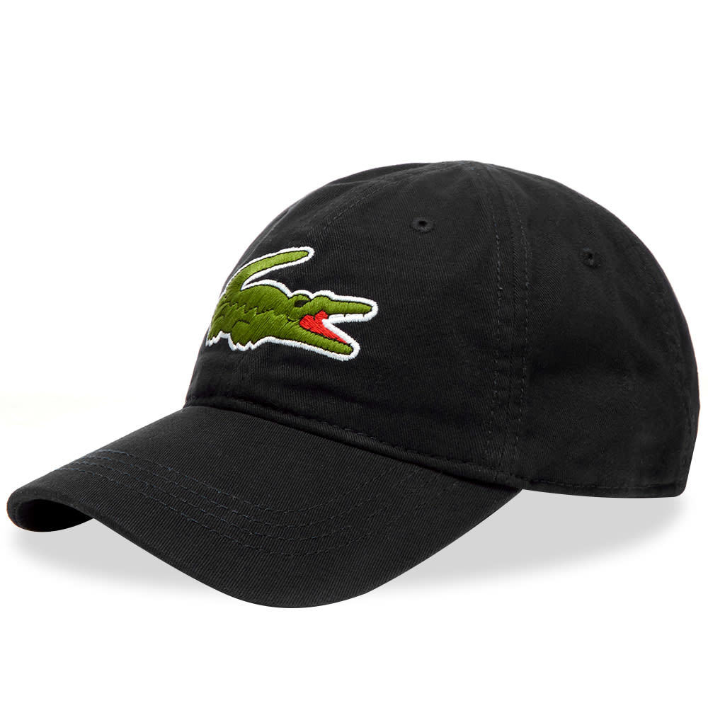 Photo: Lacoste Big Croc Logo Cap Black