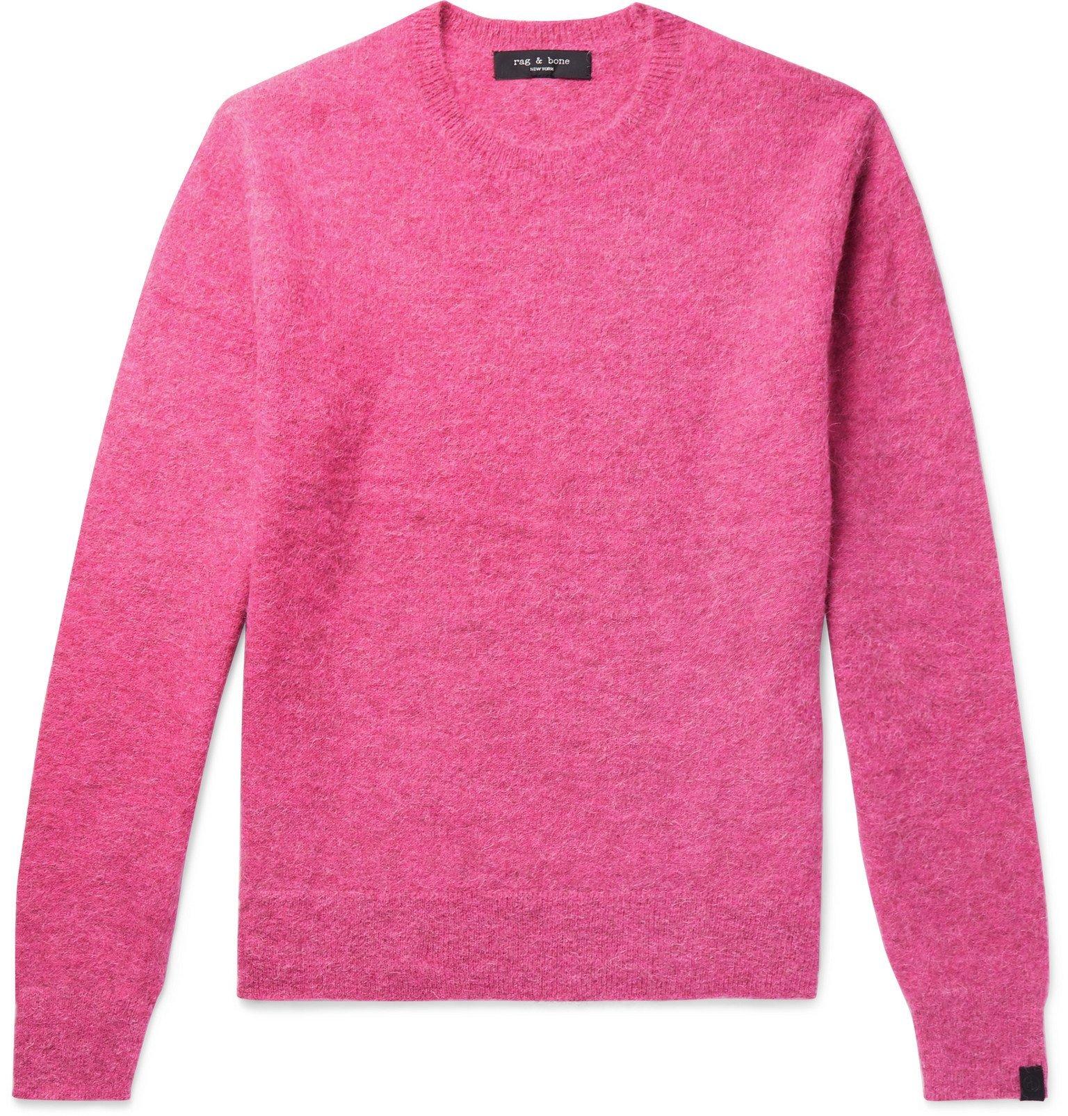 Photo: rag & bone - Arnie Alpaca-Blend Sweater - Pink