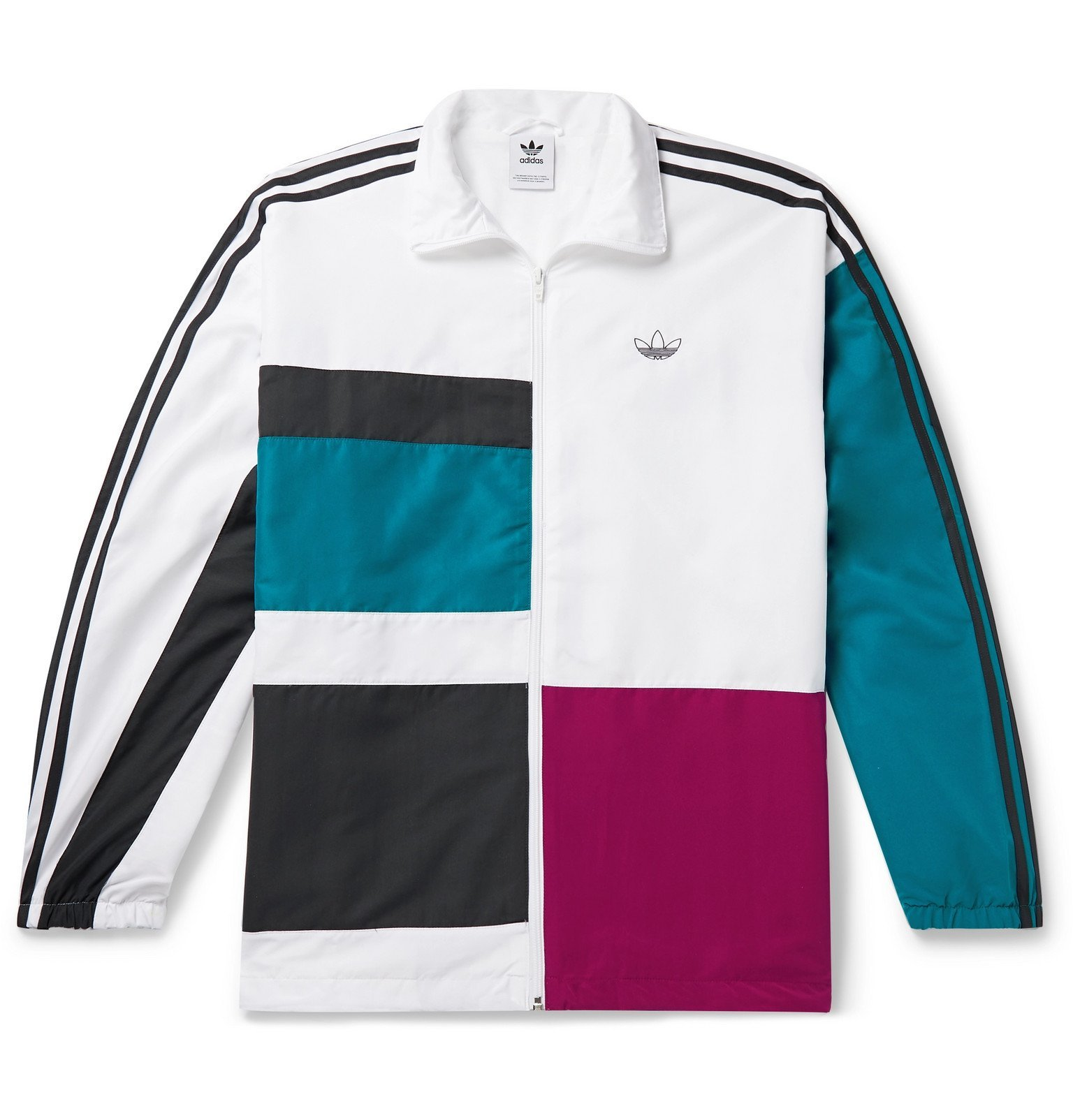 Photo: adidas Originals - Color-Block Shell Track Jacket - White