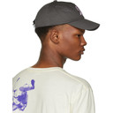 Raf Simons Grey Embroidered Logo Baseball Cap