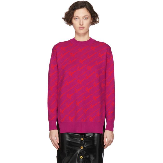 Photo: Versace Pink Wool Gianni Versace Sweater
