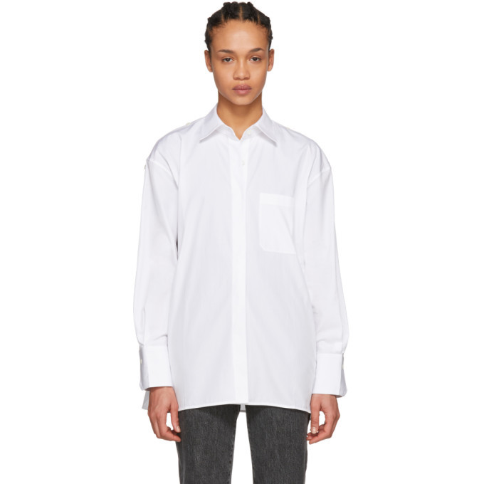 Photo: Helmut Lang White Oversized Placket Shirt