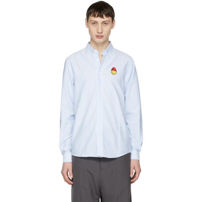 Photo: AMI Alexandre Mattiussi Blue and White Limited Edition Oxford Shirt