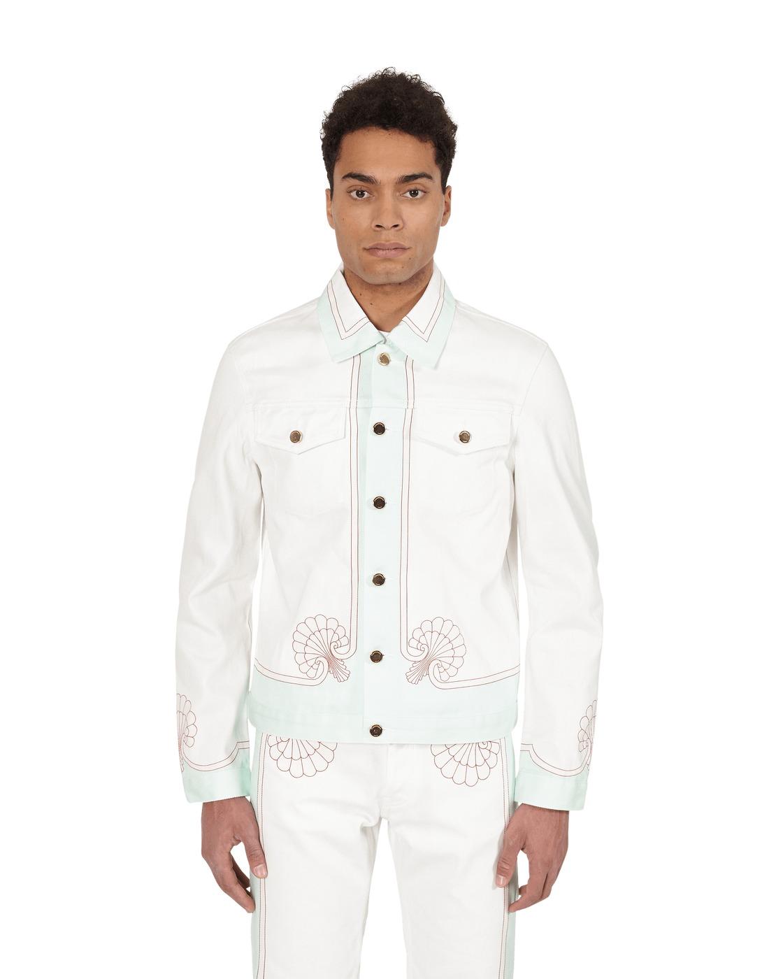 Photo: Casablanca Shell Print Denim Jacket White