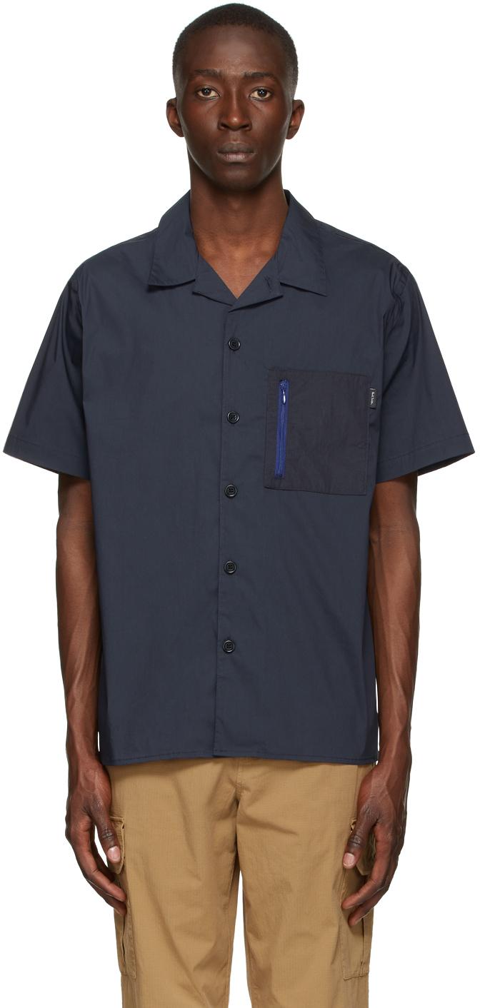 Photo: PS by Paul Smith Navy Cotton & Nylon Short Sleeve Shirt