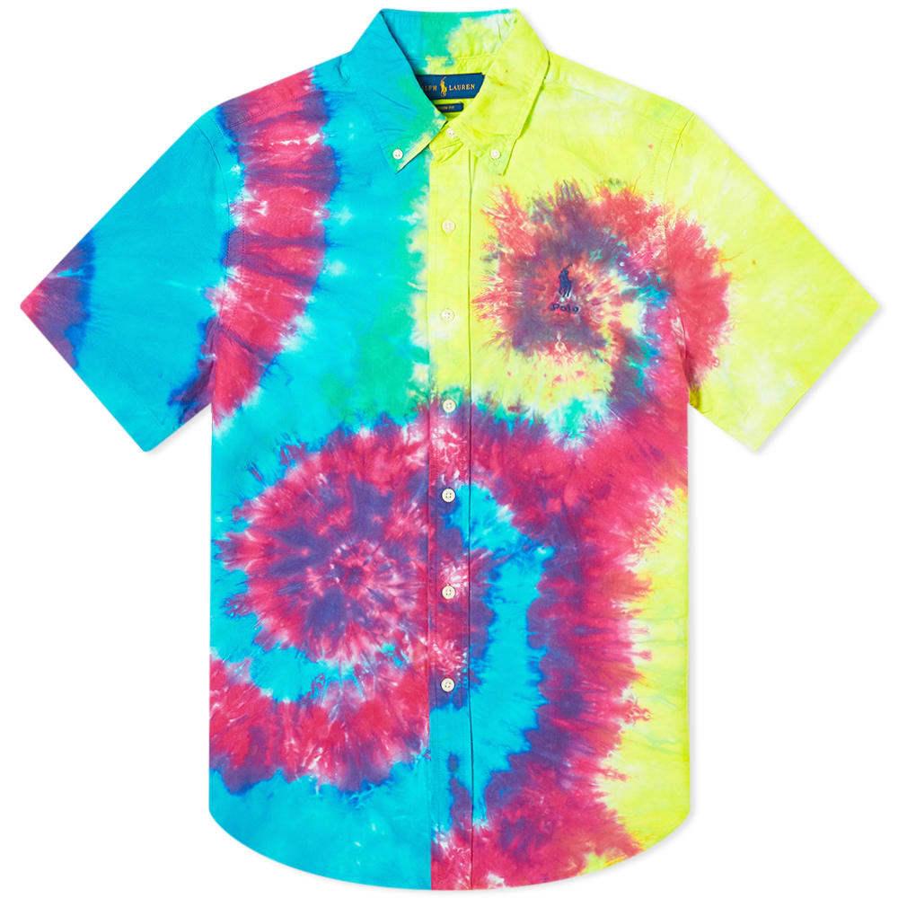 Photo: Polo Ralph Lauren Short Sleeve Button Down Tie Dye Shirt