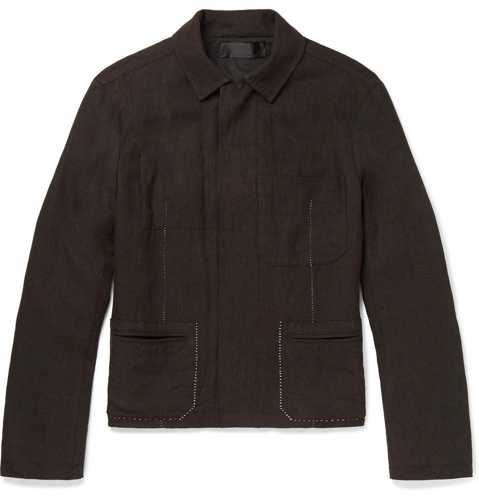 Photo: Haider Ackermann - Contrast-Stitched Linen Jacket - Men - Black