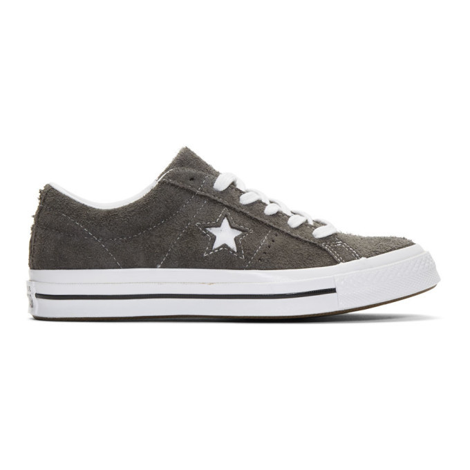 Photo: Converse Grey Suede One Star Vintage OX Sneakers