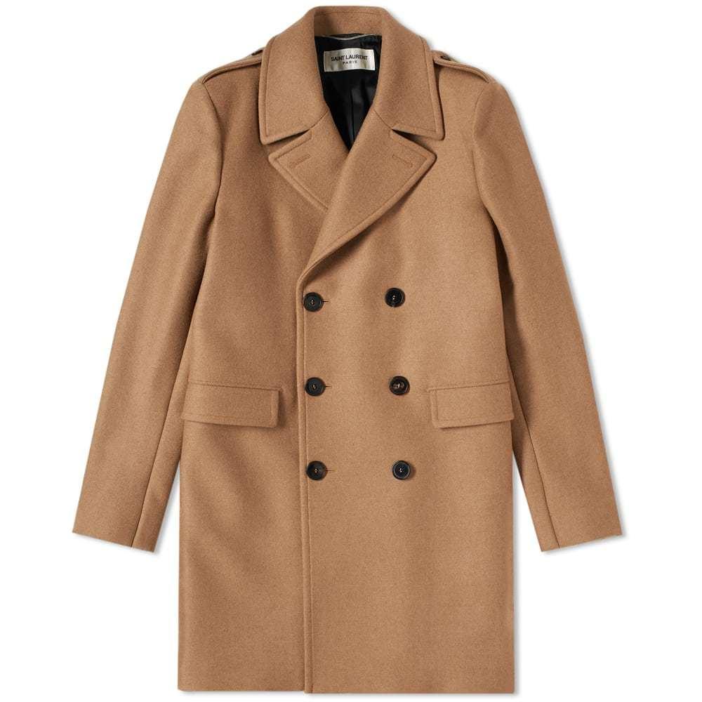 Photo: Saint Laurent Double Breasted Coat