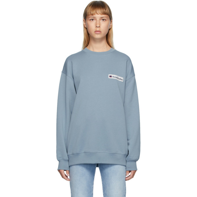 Photo: Acne Studios Grey Logo Patch Sweatshirt