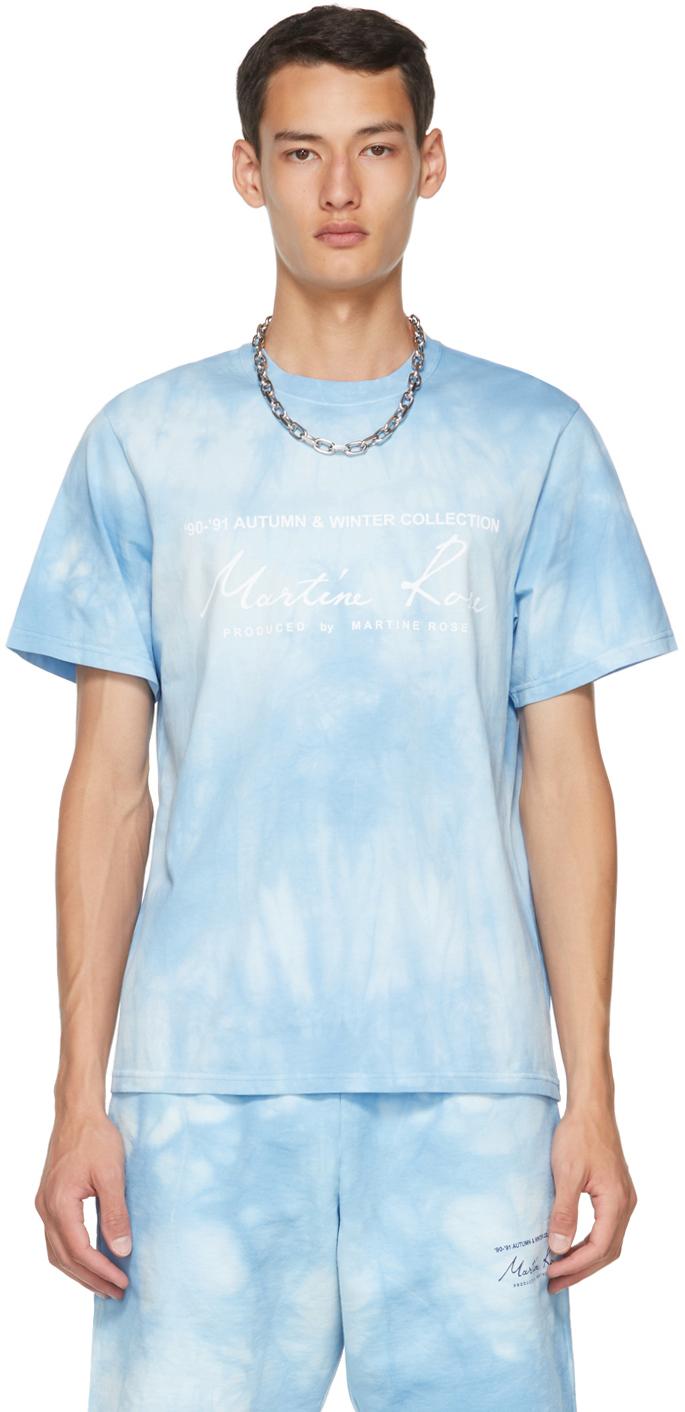 Photo: Martine Rose Blue Tie-Dye Logo T-Shirt