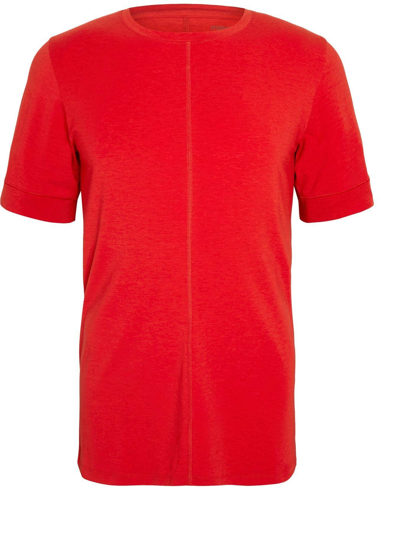 Photo: Nike Training - Slim-Fit Dri-FIT Yoga T-Shirt - Red