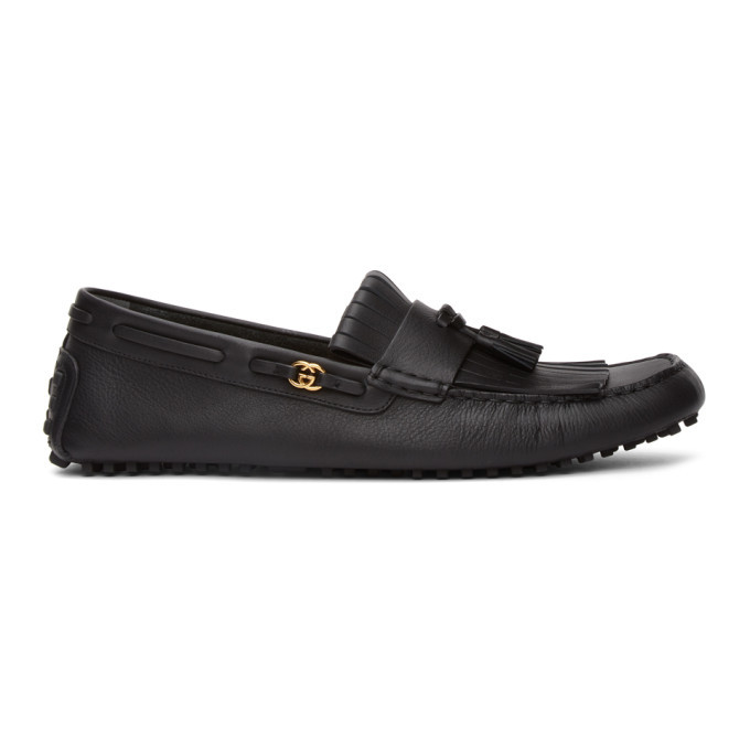 Photo: Gucci Black Tassel Driver Loafers