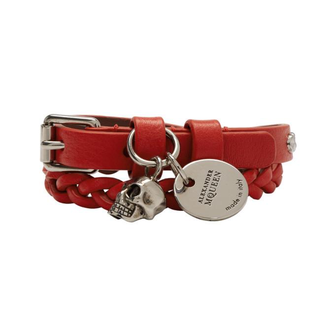 Photo: Alexander McQueen Red Double Wrap Bracelet