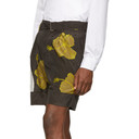 3.1 Phillip Lim Brown and Yellow Twist Belt Hibiscus Floral Shorts