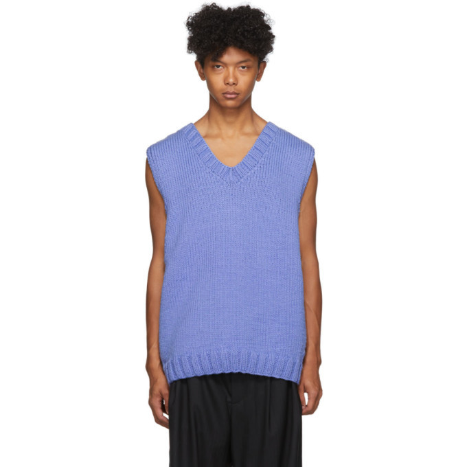Photo: Camiel Fortgens Blue Hand Knit 70s Vest