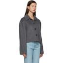 Acne Studios Grey Wool Cropped Jacket