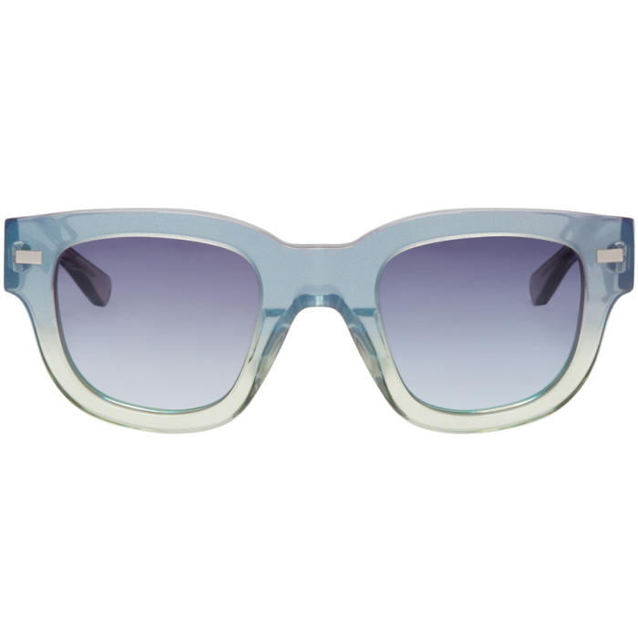 Photo: Acne Studios Green and Blue Frame Metal Sunglasses
