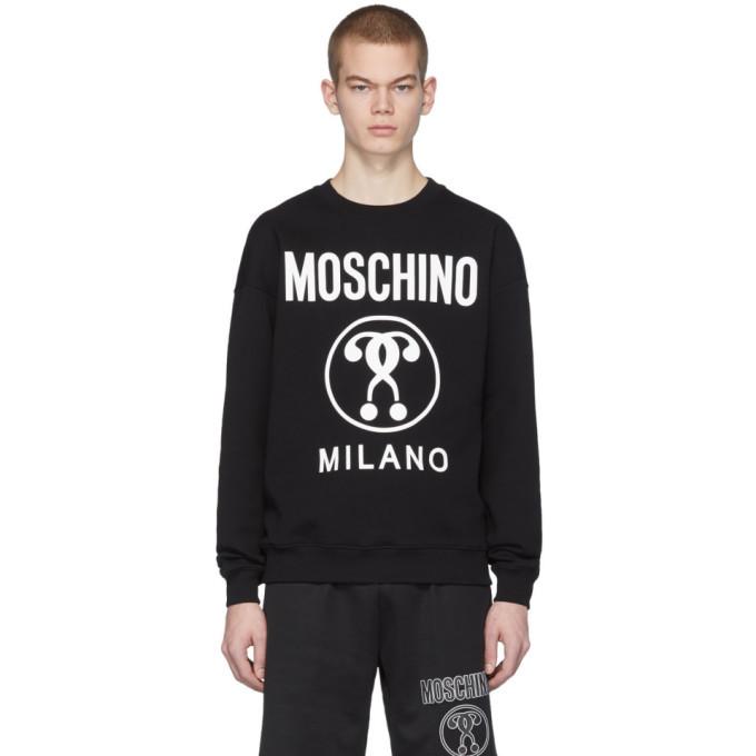Photo: Moschino Black Doppio Logo Sweatshirt