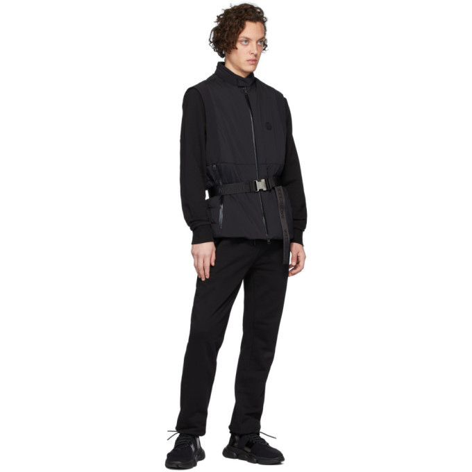 Moncler Black Cotton Lounge Pants