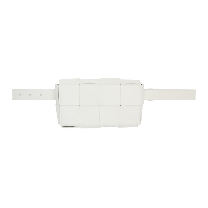 Photo: Bottega Veneta White The Belt Cassette Pouch