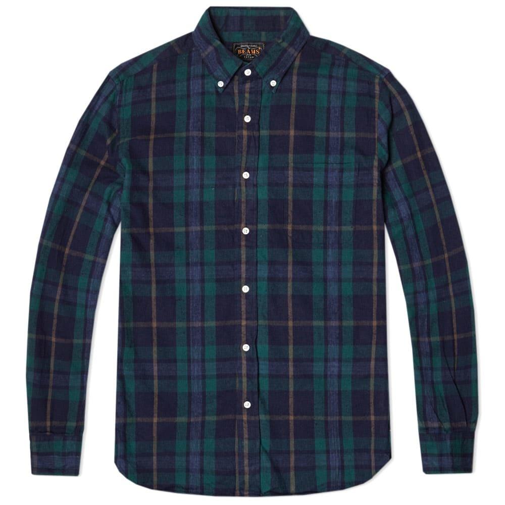 Photo: Beams Plus Button Down Nep Check Shirt