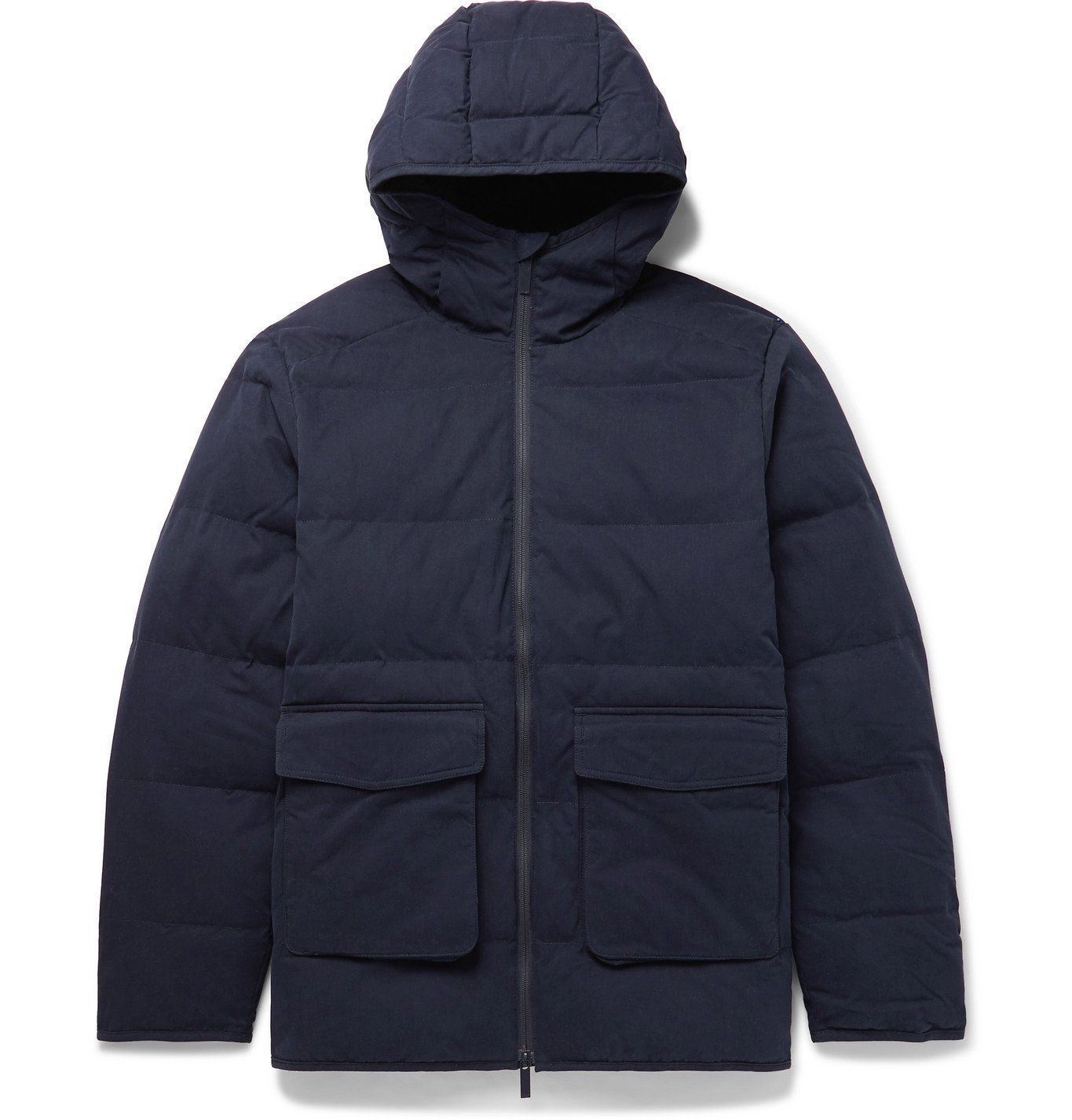 Photo: NN07 - Mason 8259 Quilted Cotton-Blend PrimaLoft Hooded Jacket - Blue