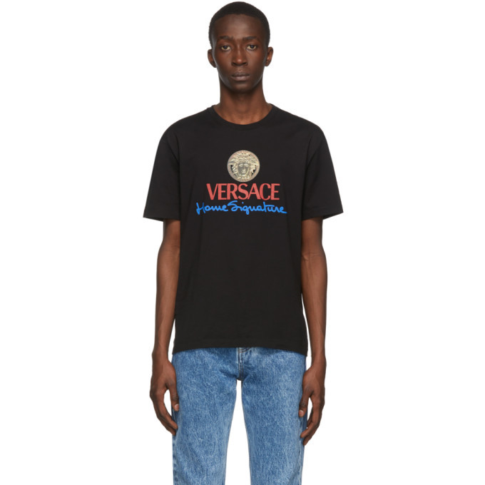 Versace Black Logo Home Signature T-Shirt