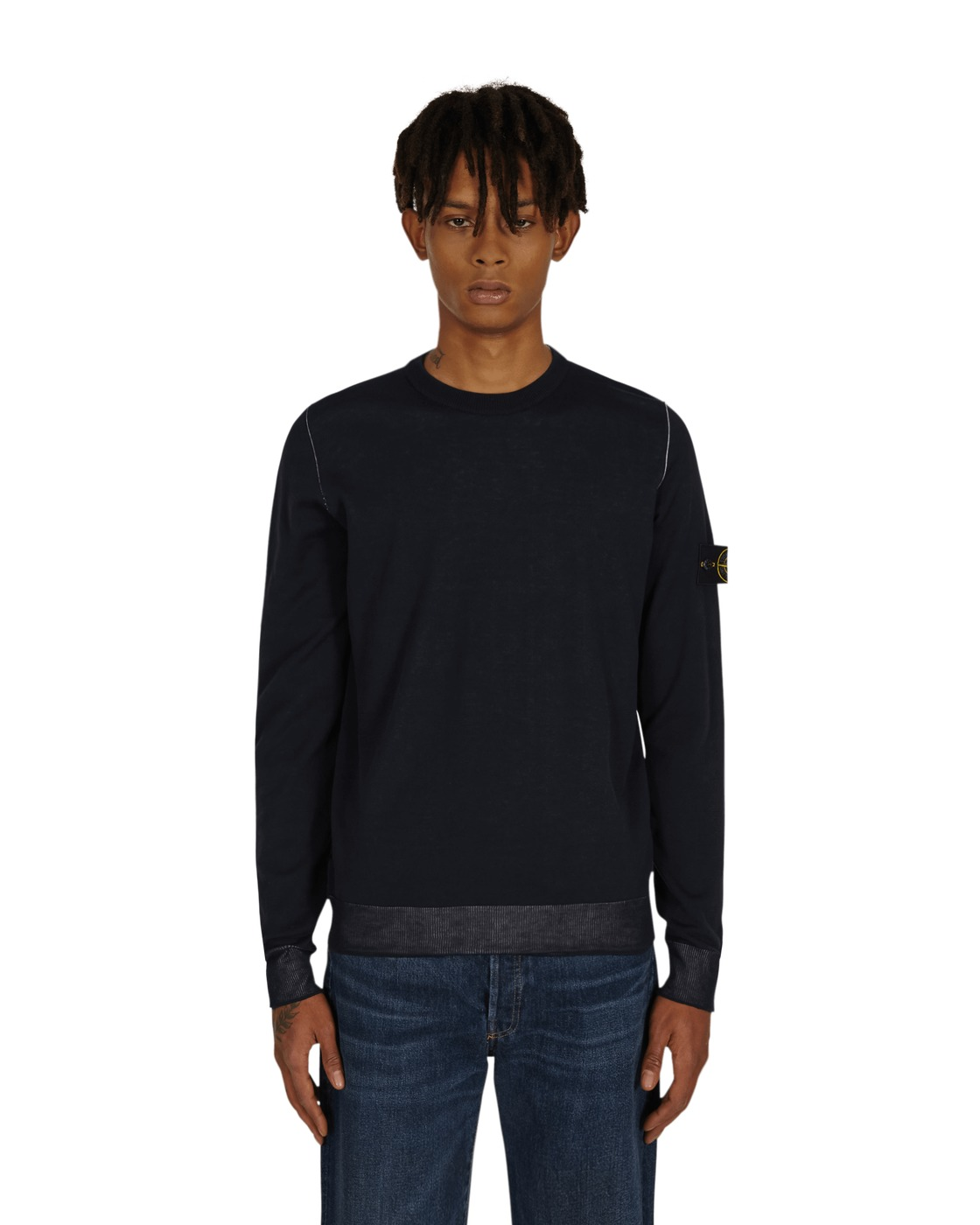 Stone Island Reversible Knit Sweater Blue