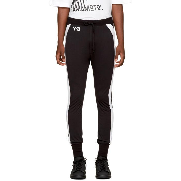 Y-3 Black and White Jersey Long John Lounge Pants
