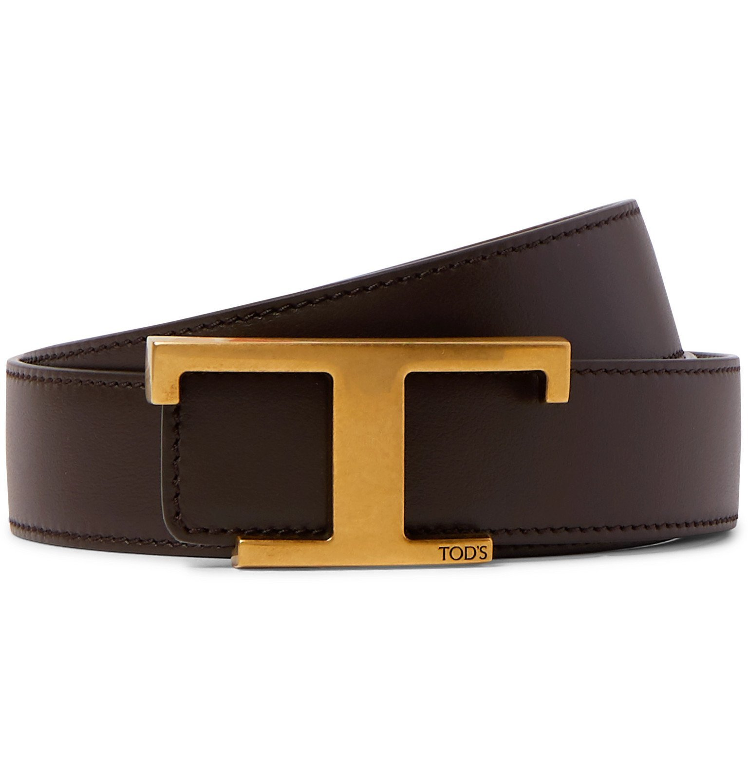 Photo: Tod's - 3cm Reversible Leather Belt - Brown