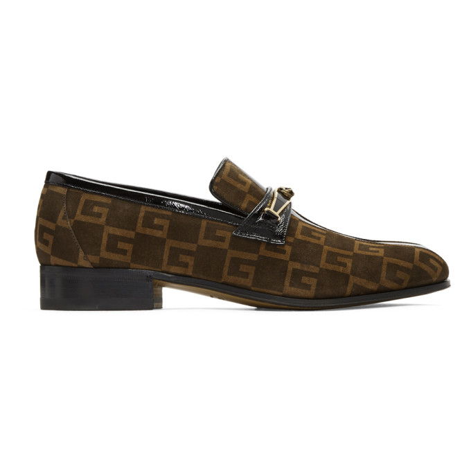 Photo: Gucci Brown Suede GG Fox Loafers