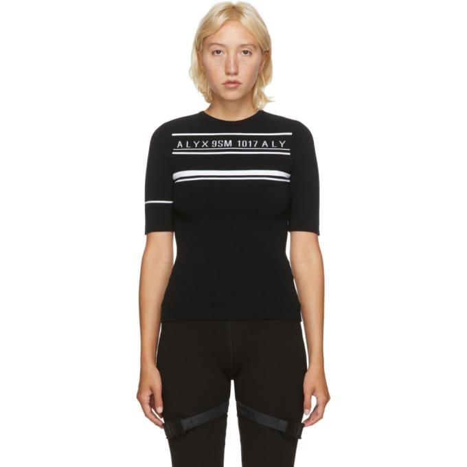 Photo: 1017 ALYX 9SM Black Logo Knit Sweater