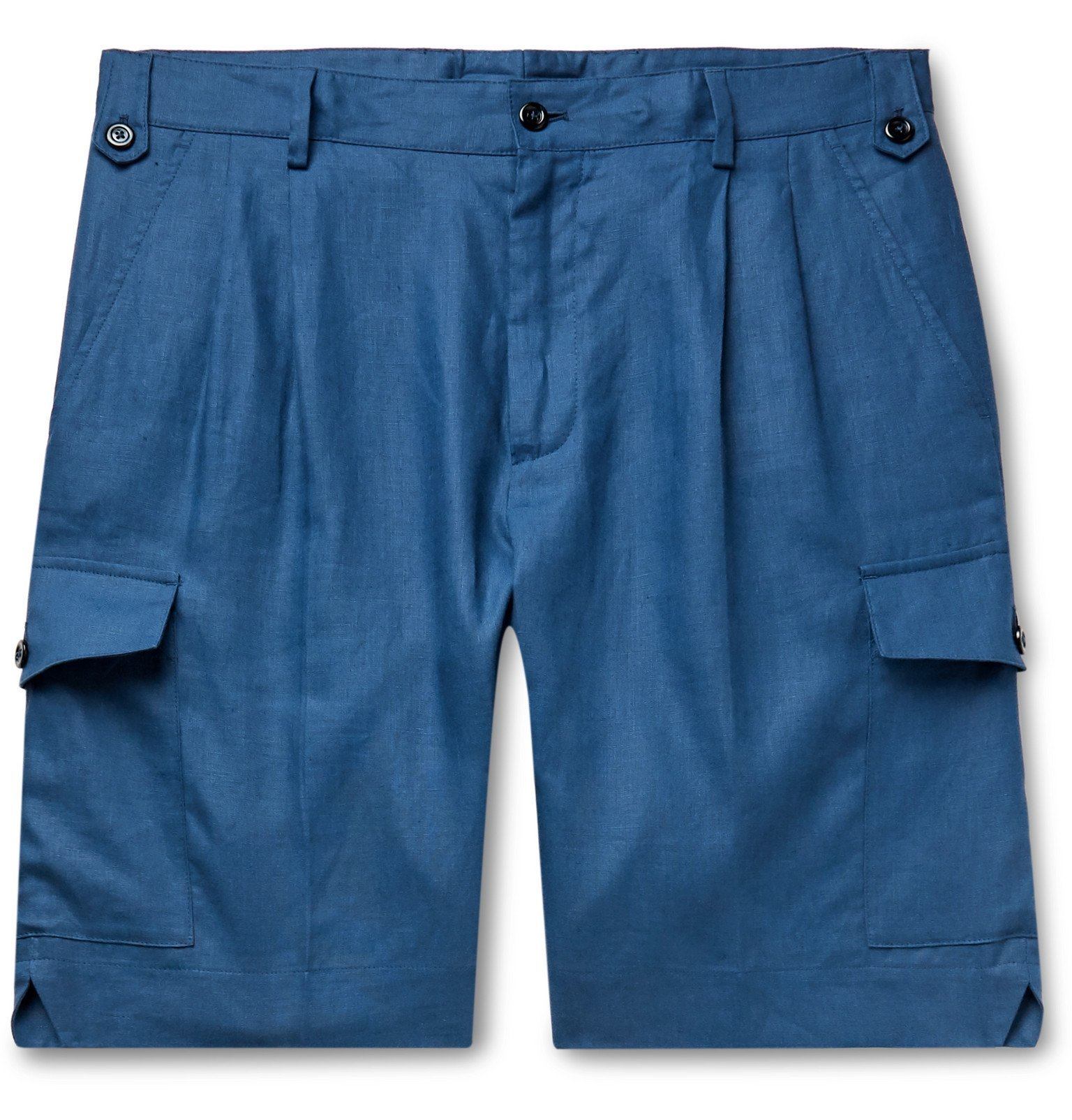Photo: Dolce & Gabbana - Linen Shorts - Blue