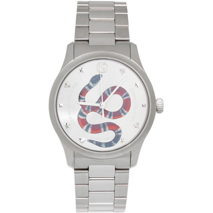 Photo: Gucci Silver G-Timeless Snake Watch