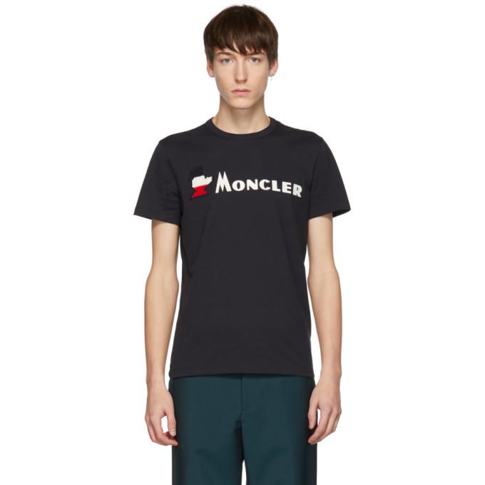 Photo: Moncler Navy Logo T-Shirt
