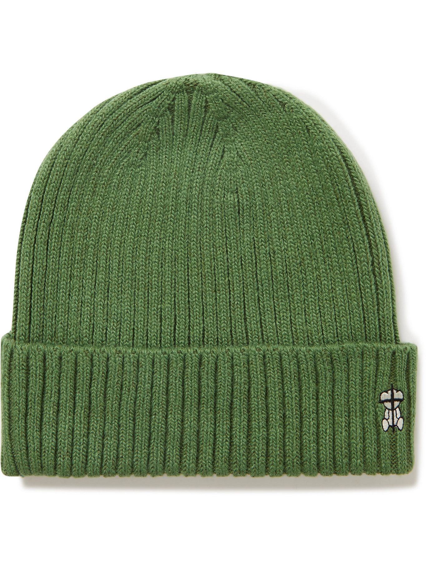Photo: UNDERCOVER MADSTORE - Logo-Embroidered Ribbed-Knit Beanie