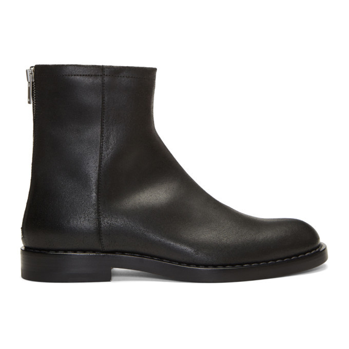 Photo: Maison Margiela Black Leather Zip Boots