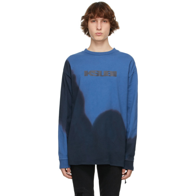 Photo: Ksubi Blue Eterno Dye Long Sleeve T-Shirt