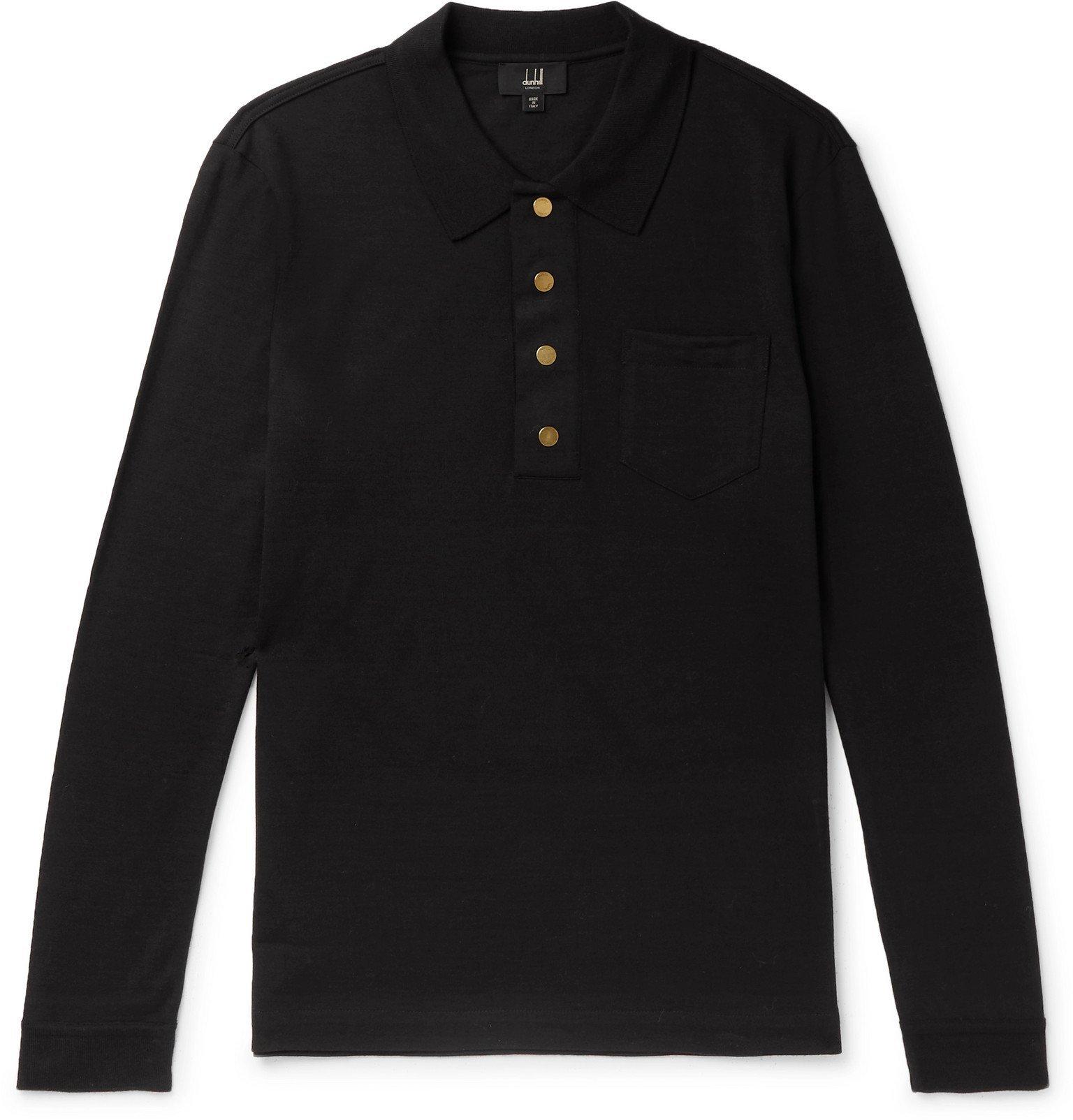 Dunhill - Wool Polo Shirt - Black