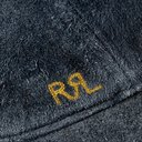 RRL - Roughout Leather Baseball Cap - Blue