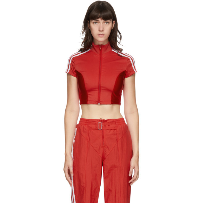 Photo: adidas Originals Red Paolina Russo Edition Crop T-Shirt