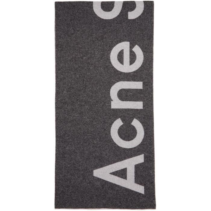 Photo: Acne Studios Black Toronty Logo Scarf