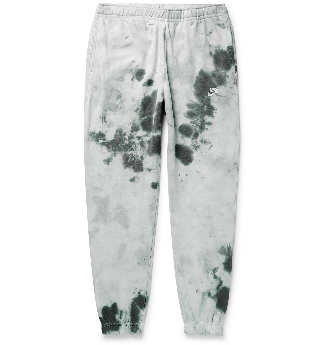 Photo: Nike - Sportswear Tie-Dyed Loopback Cotton-Blend Jersey Sweatpants - Gray