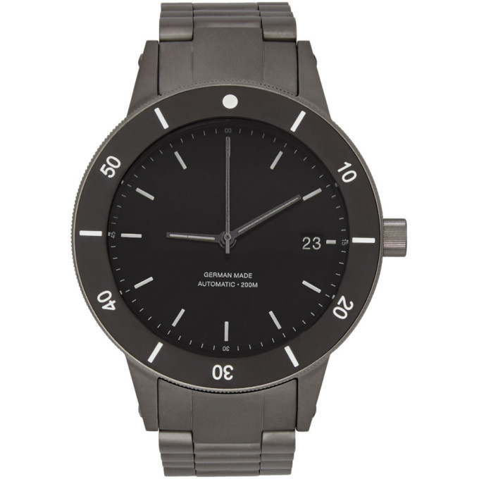 Photo: Instrmnt Black and Silver Dive Watch