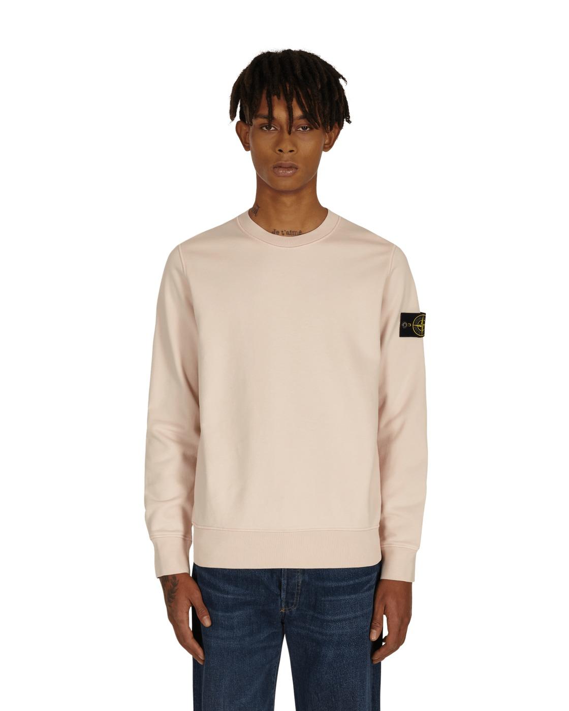 Stone Island Basic Crewneck Sweatshirt Old Pink