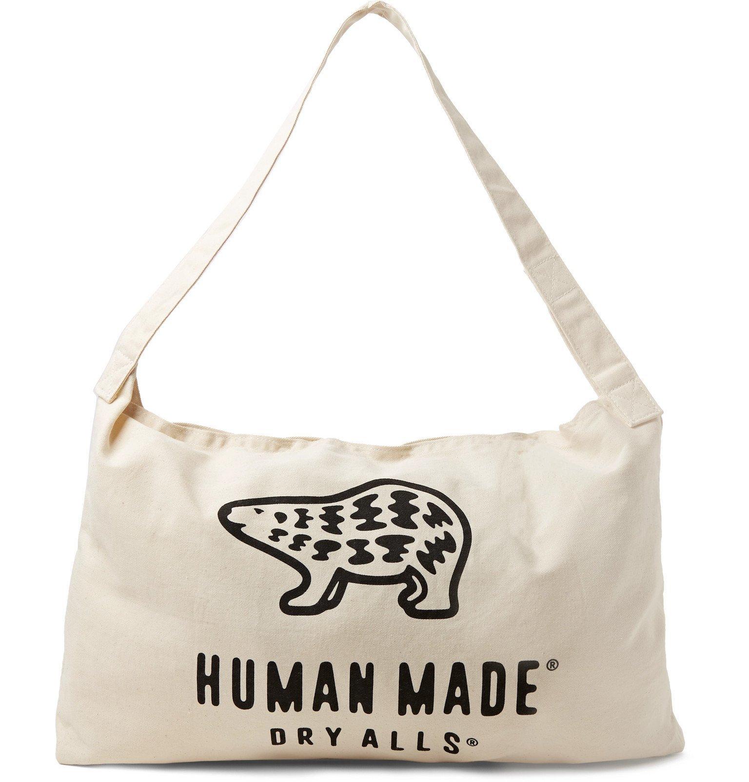 Photo: Human Made - Logo-Print Cotton-Canvas Tote Bag - White
