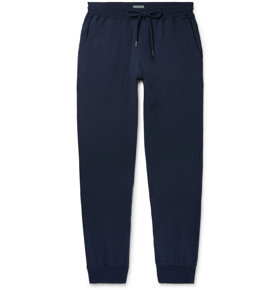 Hanro - Loopback Stretch-Cotton Jersey Sweatpants - Navy