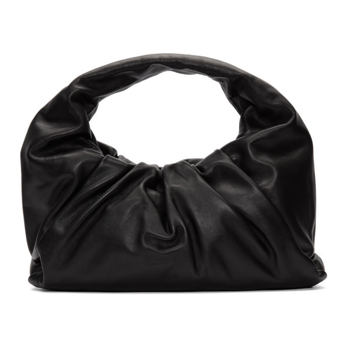 Photo: Bottega Veneta Black Small Shoulder Pouch Bag