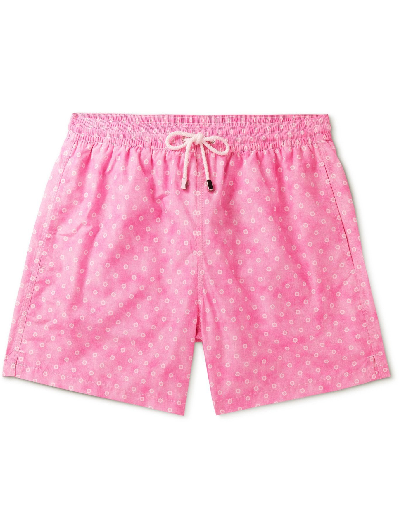 Photo: ANDERSON & SHEPPARD - Mid-Length Floral-Print Swim Shorts - Pink